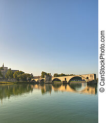 The Popes Bridge on the Rhone River - The Popes Bridge from...