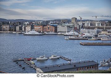 The port in the city of Oslo.