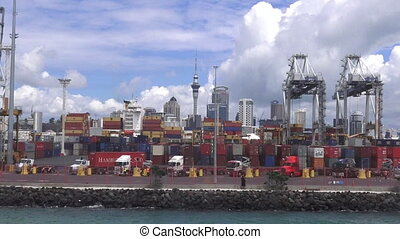 The Port of Auckland New Zealand - AUCKLAND, NZL - JAN 31...