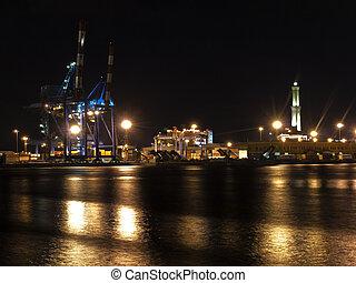 Genoa in the night