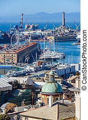 The port of Genoa