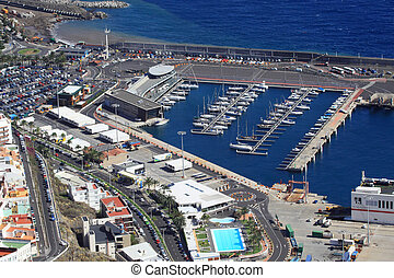 The port of Santa Cruz de la Palma