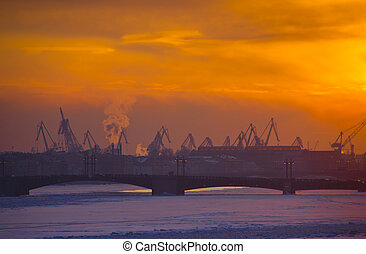 The Port Of St. Petersburg, Russia