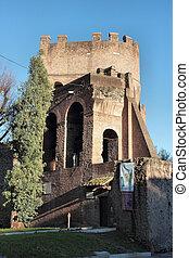 The Porta San Paolo in Rome