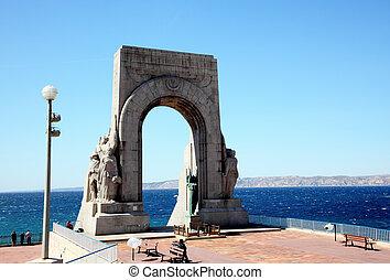 The Porte De L'Orient in Marseille City, France