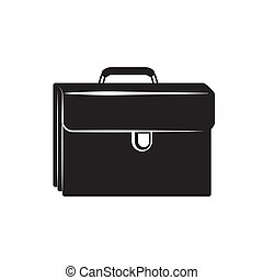 the portfolio icon is black on an isolated white layer. Vector image