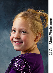 portrait of a little girl - the portrait of a little girl...