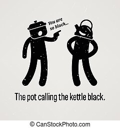 The pot calling the kettle black - A motivational and...