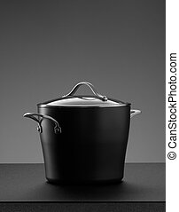 the pot on grey