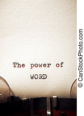 The power of word