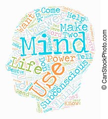 The Power Of Your Subconscious Mind text background wordcloud concept