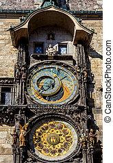 The Prague astronomical clock, or Prague orloj