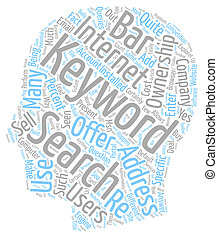 The Present and the Future of Keyword Ownership text background wordcloud concept