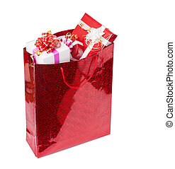 The presents in the red package