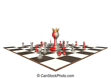 The president of a large company (chess metaphor)