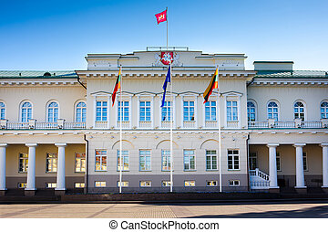 The Presidential Palace in Vilnius, the official residence...