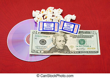 The price of a movie and popcorn
