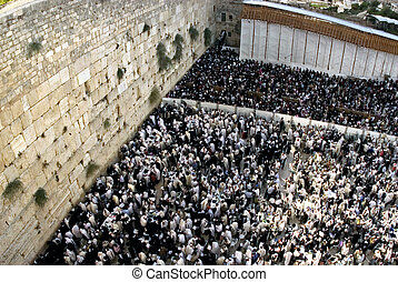 The Priestly Blessing Sukkoth Jewish holiday - JERUSALEM -...