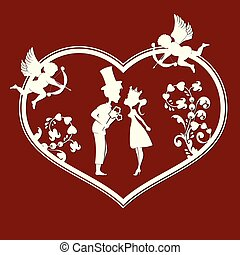 The Prince and the Princess the cupids