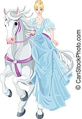 The Princess Is Riding a Horse