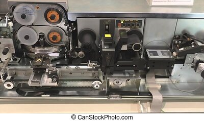 The printing press for the manufacture of credit cards