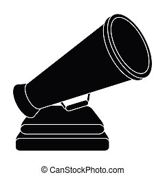 The prize in the form of a loudspeaker on a stand.The award for best Director.Movie awards single icon in black style vector symbol stock illustration.