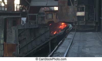 The process of coal burning rash