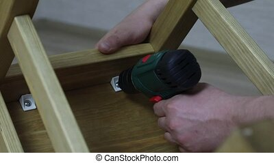 The process of furniture assembly - The process of wood...