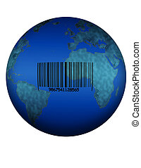 The Product - A barcoded earth on white