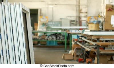 The production of assembling and manufacturing pvc windows,...