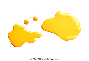 The puddle of a paint spill - The puddle of an oil paint ...