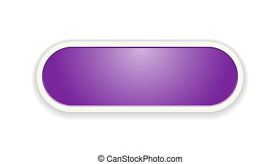 The purple glossy button