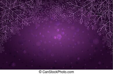 The purple winter background