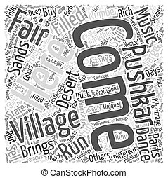 The Pushkar Fair Word Cloud Concept