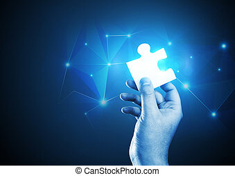 The Puzzle Piece - A man holding the correct piece of the...