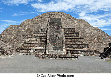 The pyramid of the moon in Teotihuacan Mexico