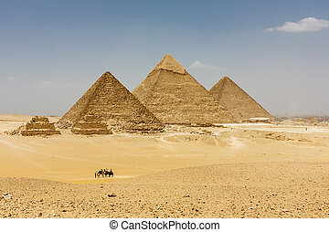 The Pyramids of Giza - The Pyramids plateau is dominated by...