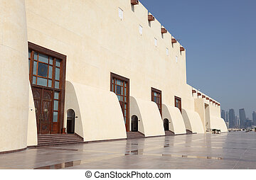 The Qatar State Grand Mosque in Doha