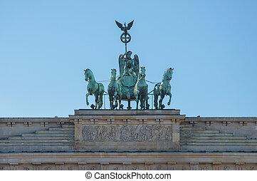 The Quadriga on the Brandenburg Gate in Berlin