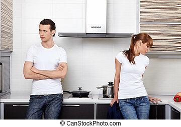 The quarrelled couple