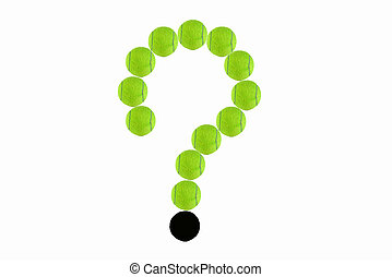 the question of green tennis ball isolate