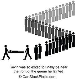 The Queue - Kevin is taken away be paramedics cartoon ...