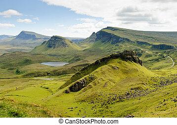 The Quirain, Isle of Skye - View on the beautiful rock...