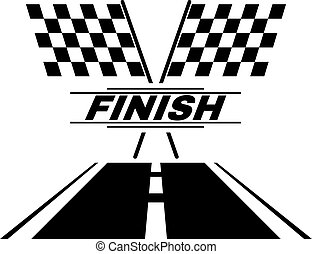 The race flag icon. Finish symbol. Flat Vector illustration