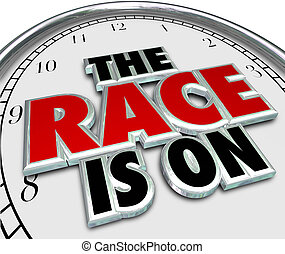The Race is On Clock Game Competition Challenge Starting