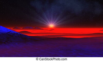 The Radiant Star In The Sky Alien Planet