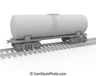 The railway tank for oil transportation