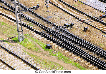 The Railways Stations. - The big Railways Stations with...