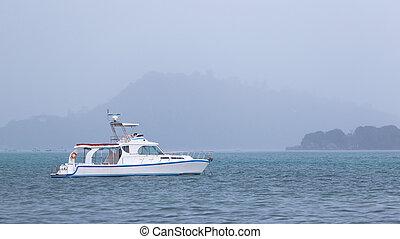 elegant white boat
