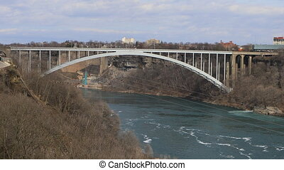 The Rainbow Bridge between Canada and the United States